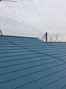 藤森邸屋根上塗