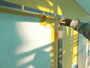 大竹邸壁中塗り